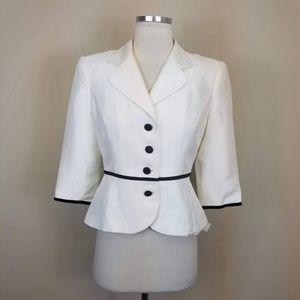 Talbots White Silk Blazer Jacket NEW